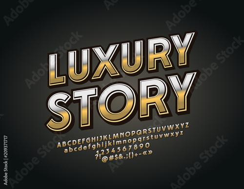Obraz na plátně Vector luxury Font