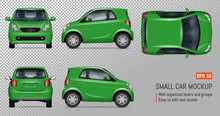 Compact Car Vector Mockup On T...