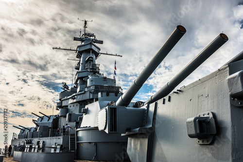 Retired battleship Canvas Print