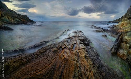 Fotobehang Kust Corsica coast Panorama
