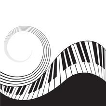 PrintStylized Piano Keys And S...