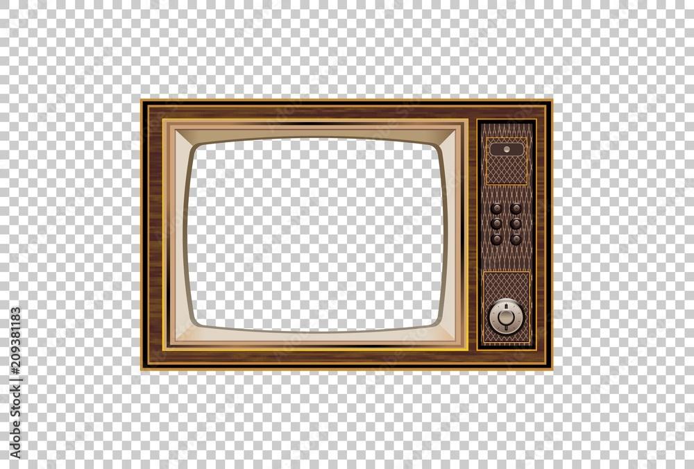 Fototapeta Old TV  Illustration of the good old retro TV