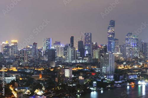 In de dag Aziatische Plekken Bangkok City overview