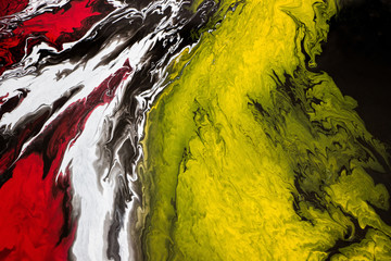 Panel Szklany Abstrakcja abstract fluid acrylic painting on canvas