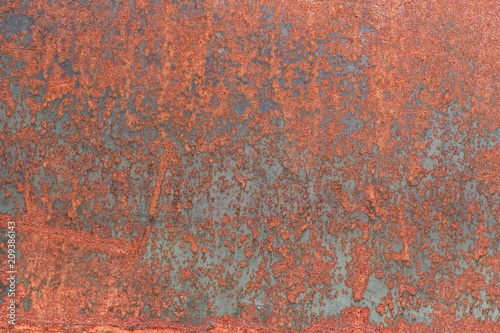 Poster Metal Rusty surface color terracotta