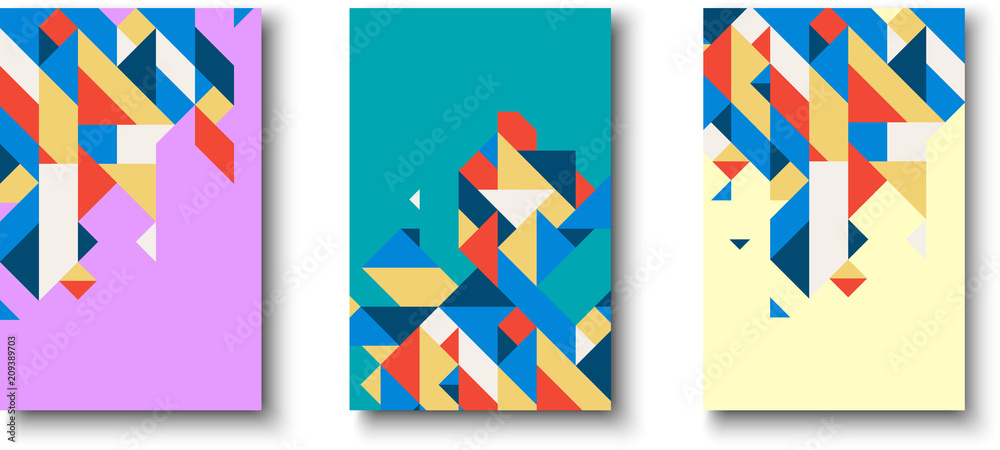 Fototapeta Backgrounds with abstract colorful geometric pattern.