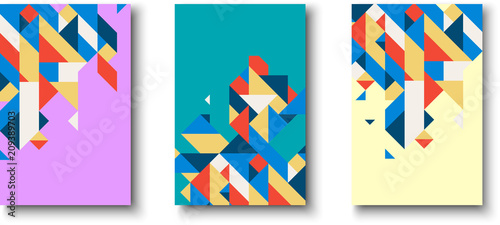 Canvas Print Backgrounds with abstract colorful geometric pattern.