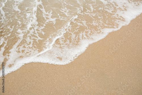 Stickers pour portes Eau Sand and sea wave