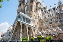 Part Of The Facade Of Sagrada ...