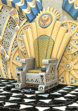 Fantasy Egyptian Throne In A T...
