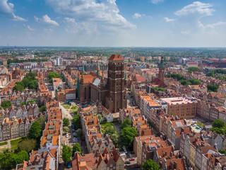 Panel Szklany Podświetlane Gdańsk Trójmiasto z lotu ptaka