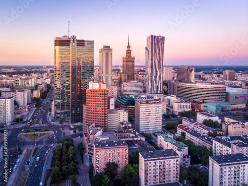Zdjęcie XXL Warszawa z lotu ptaka