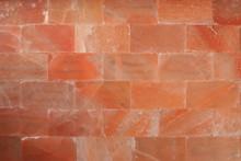 Red Himalaya Salt Bricks Wall Texture Wallpaper Background