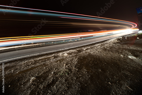 Obraz Car ligth trails. Art image - fototapety do salonu