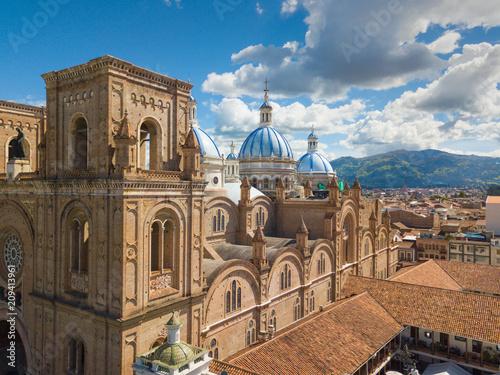 Ecuador Cuenca aerial view Immaculate Conception