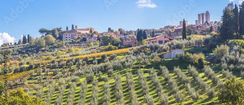 Fototapeta ville de San Gimignano, Italie