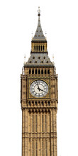 Big Ben In London, UK In Isolated