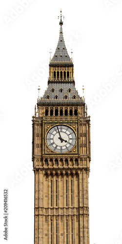 Big Ben in London, UK in isolated Canvas Print