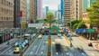 day light taipei city traffic street center panorama 4k timelapse taiwan