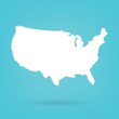 abstract white map of United States- vector illustration