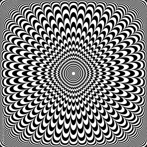 Fotomural Optical illusion design. Abstract op art pattern.