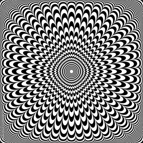 Fototapeta premium Projekt iluzji optycznej. Abstrakcyjny wzór op.