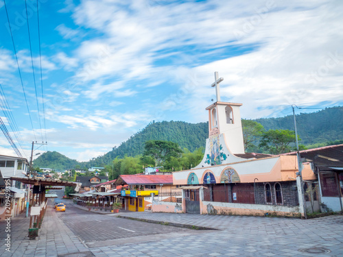 Spoed Foto op Canvas Zuid-Amerika land Small village of Mindo in Ecuador, South America