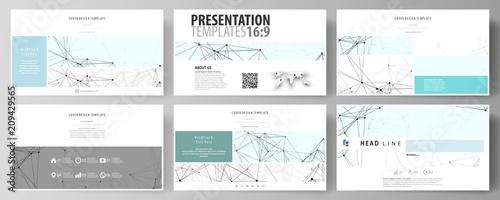 Fotomural  Business templates in HD format for presentation slides