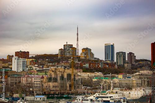 Staande foto Milan Vladivostok, Russia - Vay 08, 2018: view of the bridge over the Golden Horn Bay