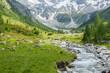 Wildbach vom Gletscher in den österreichischen Bergen