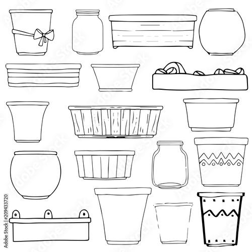 Fotografía Flowerpots, vases, boxes