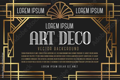 Fotografie, Tablou  Luxury Vintage Artdeco Frame Design. Vector illustration
