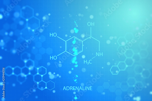Glowing chemical background Canvas Print