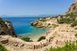 Small beautiful beach at archaeological site of Heraion, sanctuary of goddess Hera, in Perachora, Loutraki, Greece