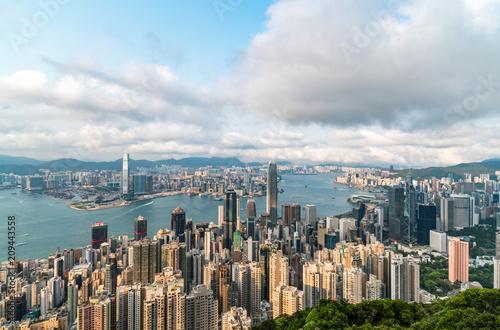 Foto op Aluminium New York Hong Kong City Scenery