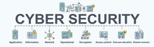 Cyber Security Banner Web Icon...