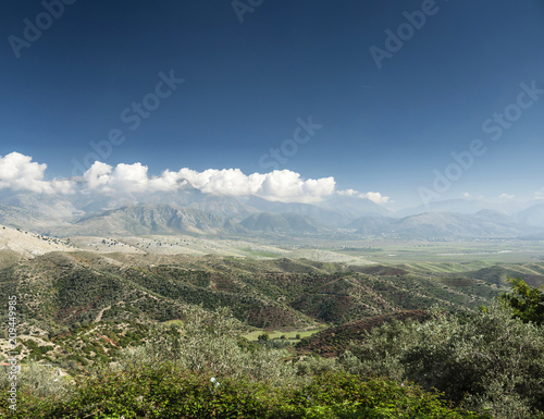 south albania countryside scenic landscape view