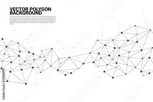 Network Connecting dot polygon background : Concept of Network, Business, Connec Wallpaper Mural