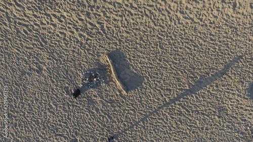 Photo dji Ariel view of sand