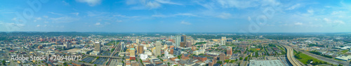 Garden Poster Barcelona Aerial panorama Birmingham Alabama Downtown