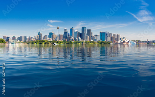 Wall Murals Sydney Dramatic panoramic photo Sydney harbor