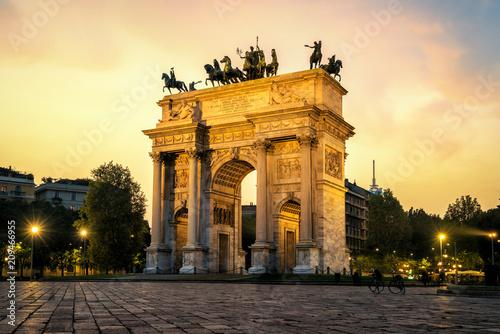 Autocollant pour porte Milan Arco della Pace in Milan , Italy