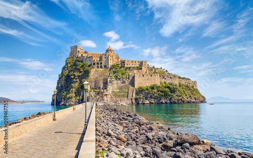 Fotografie, Obraz  Daylight view of Aragonese Castle near Ischia island, Italy