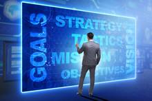 Businessman In Strategic Planning Concept