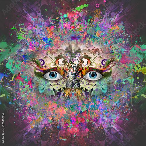 абстрактные магия красочные глаза на абстрактного фона