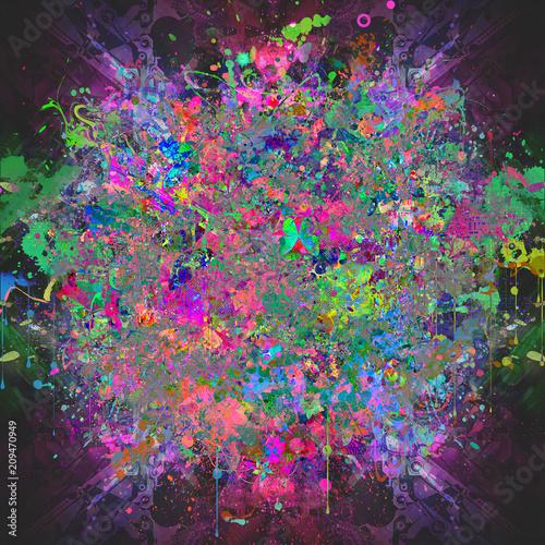цветочный красочный фон