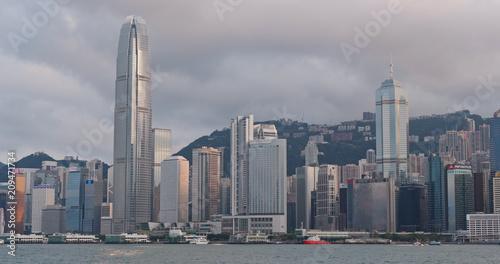 Hong Kong urban skyline