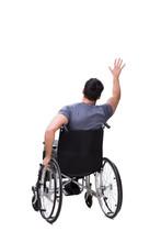 Man On Wheelchair Isolated On ...