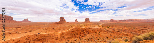 Stickers pour portes Orange eclat Monument Valley