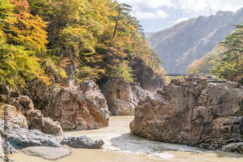Foto op Canvas Asia land Ryuyo Gorge canyon Nikko Japan